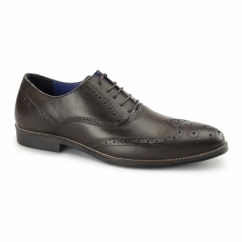 KILDARE Mens Leather Oxford Brogues Brown