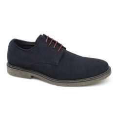 NAIRN Mens Suede Leather Desert Shoes Navy