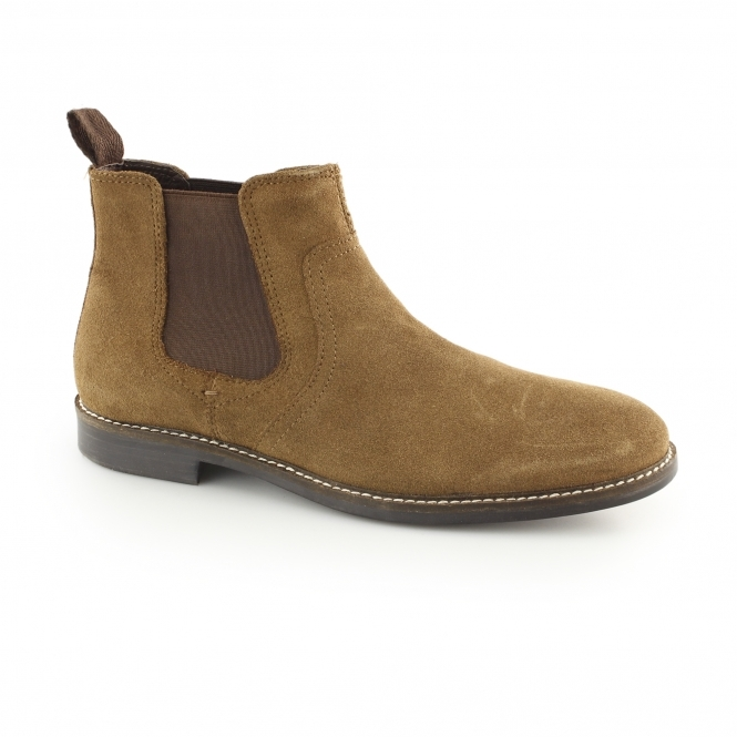 Red Tape NEWTON Mens Suede Chelsea Boots Tan