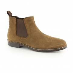 NEWTON Mens Suede Chelsea Boots Tan