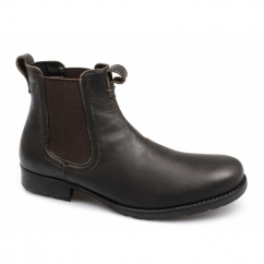 REDLAKE Mens Weathered Leather Chelsea Boots Brown