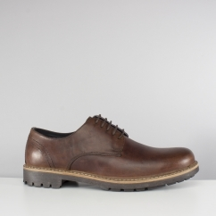 Red Tape RISLEY Mens Leather Derby Shoes Brown