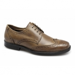 RTX MAGLIN Mens Leather Brogue Shoes Tan