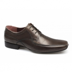 SANDBACH Mens Leather Chisel Toe Shoes Brown