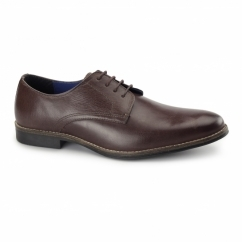 SHANNON Mens Leather Derby Shoes Bordo
