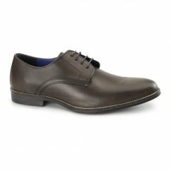 SHANNON Mens Leather Derby Shoes Brown
