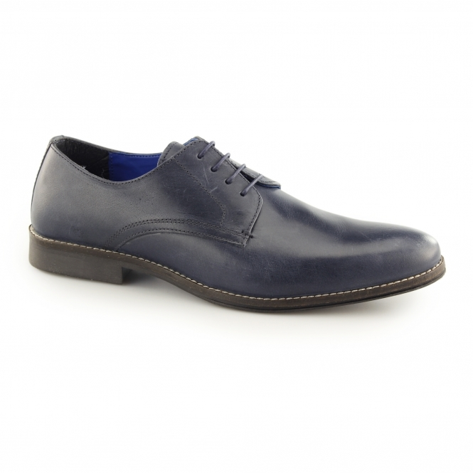 Red Tape SHANNON Mens Leather Derby Shoes Navy
