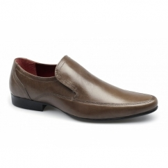 SHERSTON Mens Leather Slip-On Shoes Tan