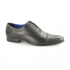 Red Tape SLADE Mens Perforated Leather Oxford Brogues Black