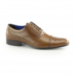 SLADE Mens Leather Oxford Brogues Tan