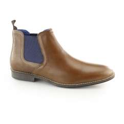 STOCKWOOD Mens Leather Chelsea Boots Tan