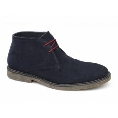 THURSO Mens Suede Leather Desert Boots Navy