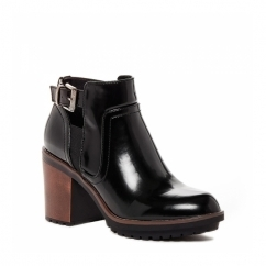 REESE Ladies Ankle Boots Patent Black