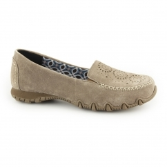 Skechers RELAXED FIT: BIKERS EXPRESSWAY Suede Loafers Dark Brown