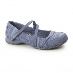RELAXED FIT: BIKERS-RIPPLES Ladies Slip-On Flats Blue