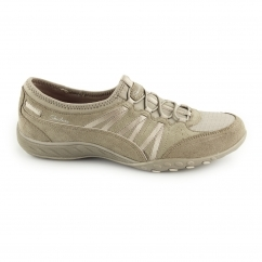 Skechers RELAXED FIT: BREATHE EASY-MONEYBAGS Ladies Shoes Taupe