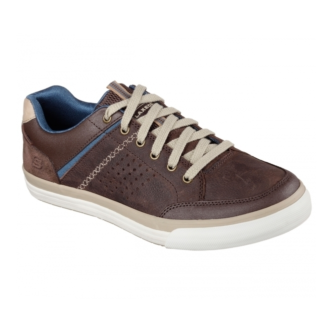 Skechers RELAXED FIT: DIAMONDBACK-RENDOL Mens Trainers Dark Brown