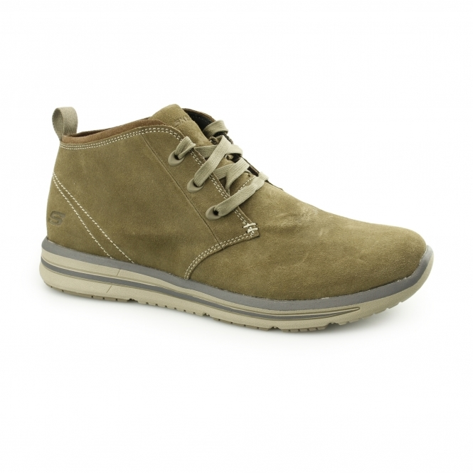 Skechers RELAXED FIT: DOREN-MARCIN Mens Chukka Boots Light Tan