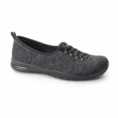 RELAXED FIT: EASY AIR-IN MY DREAMS Ladies Slip On Shoes Black