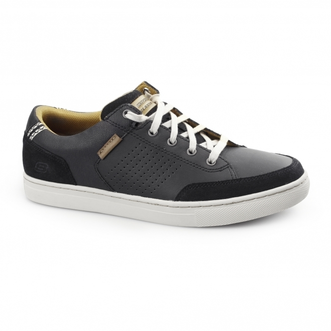 Skechers RELAXED FIT: ELVINO - LEMEN Mens Casual Trainers Black