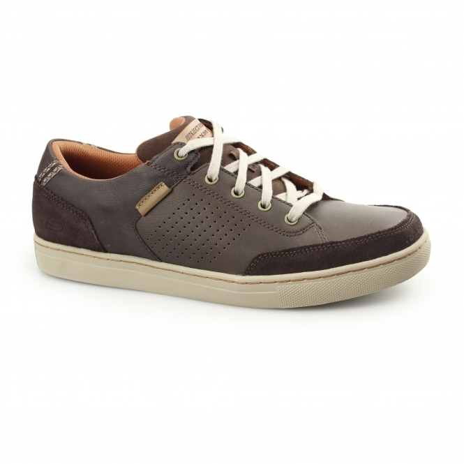 Skechers RELAXED FIT: ELVINO - LEMEN Mens Casual Trainers Brown