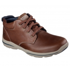 RELAXED FIT: HARPER-MELDEN Mens Casual Leather Shoes Brown