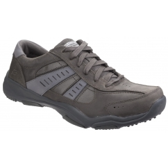 LARSON NERICK Mens Lace Up Trainer Shoes Charcoal