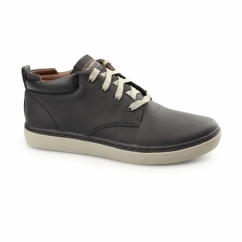 RELAXED FIT: PALEN-NIETO Mens Leather Trainers Black