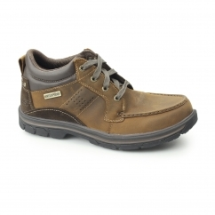RELAXED FIT: SEGMENT-MELEGO Mens Waterproof Casual Shoes Brown