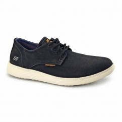 Skechers RELAXED FIT: STATUS BORGES Mens Casual Trainers Black