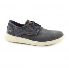 RELAXED FIT: STATUS-BORGES Mens Casual Trainers Navy