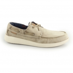 RELAXED FIT: STATUS-MELIC Mens Boat Shoes Light Brown