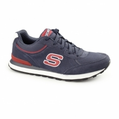 RETRO OG 82 Mens Suede Sports Trainers Navy/Red