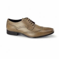 RICHARD Mens Leather Derby Brogues Tan