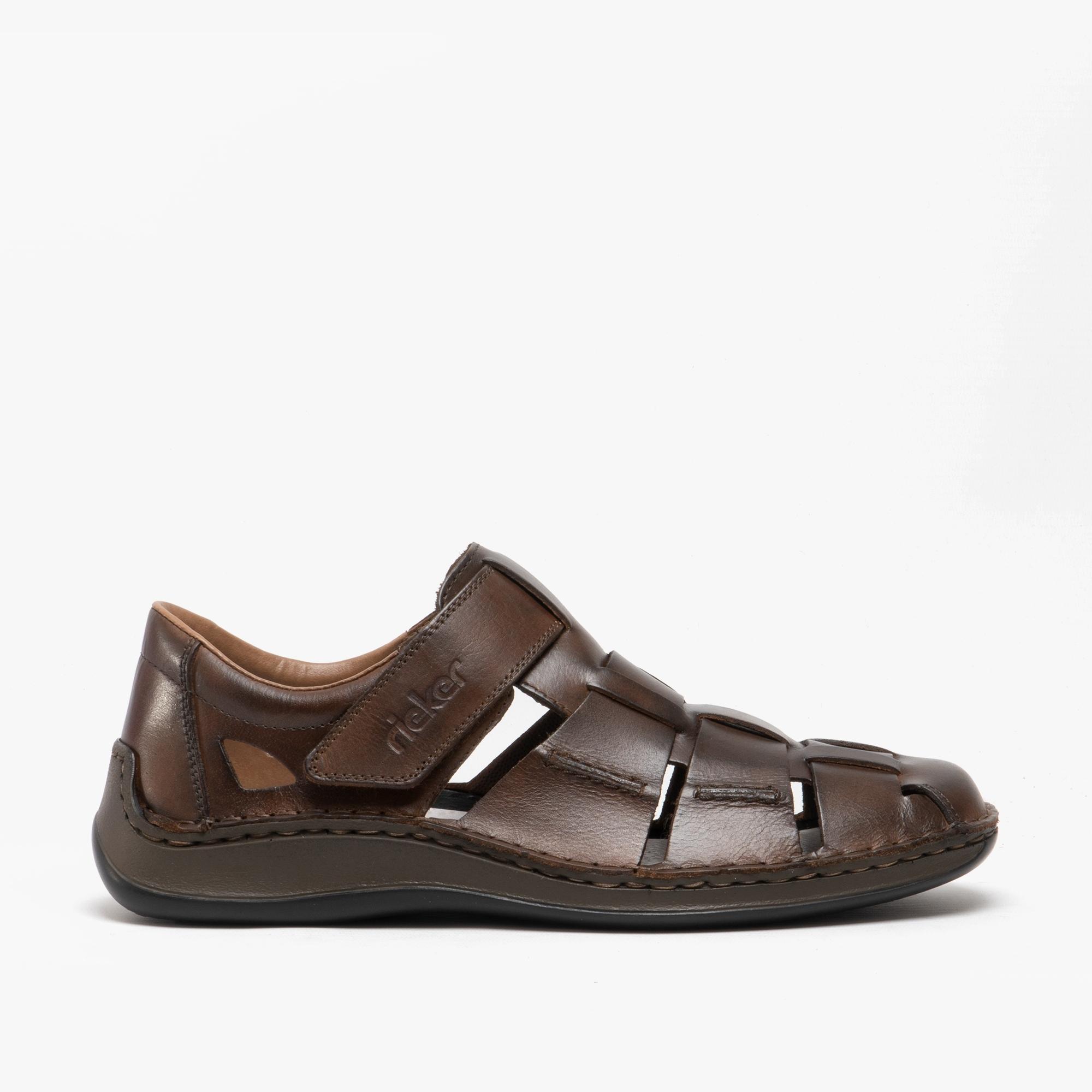 Summer Shoes Mens Rieker 05273-25 Brown Closed-Toe Sandals