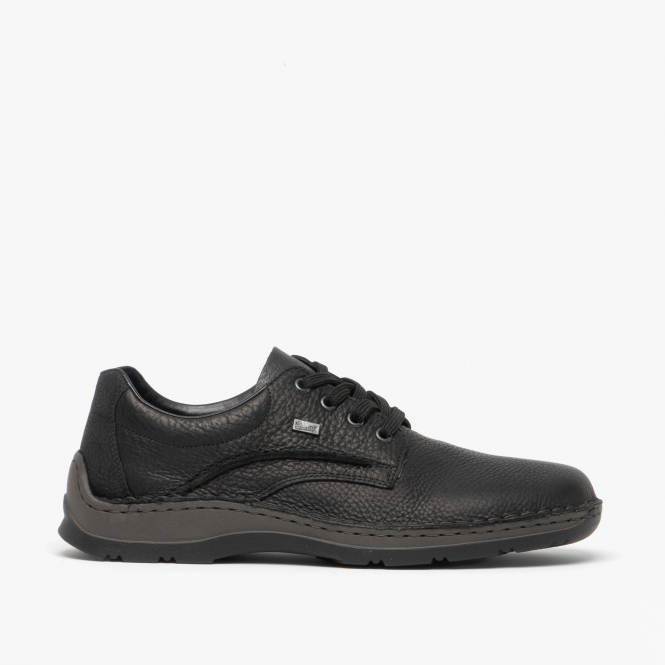 e02e52560821f Rieker TEX Mens Leather Derby Shoes Black | Shuperb