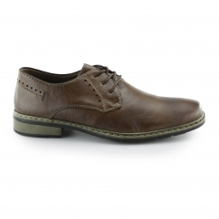 Rieker 10822-24 Mens Leather Lace Up Smart Derby Shoes Brown