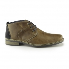 Rieker 10842-25 Mens Leather Warm Chukka Boots Brown