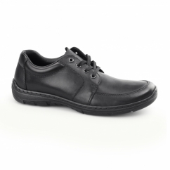 15223-01 Mens Leather Lace Up Shoes Black