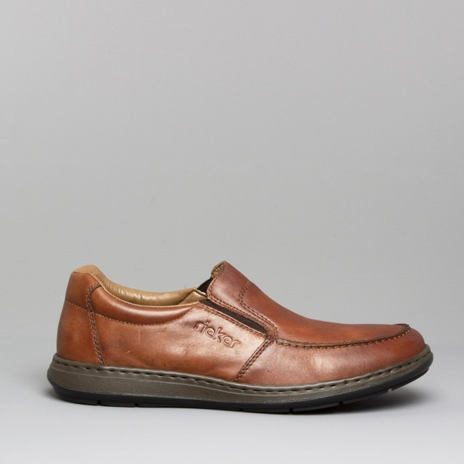 Slip Mens Shuperb Rieker Shoes Leather 17370 On Brown 24 xwxT8IqU