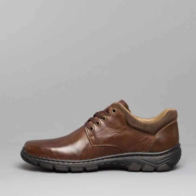 pretty cool half off clearance prices 19910-26 Mens Leather Wide Fit Lace-Up Shoes Brown