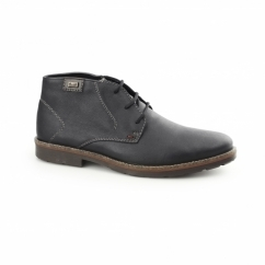 35310-00 TEX Mens Leather Desert Boots Black
