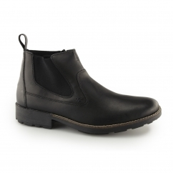 Rieker 36062-00 Mens Leather Warm Zip Chelsea Boots Black