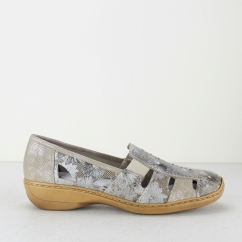 41385-91 Ladies Slip On Shoes Gold