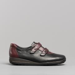 9bf8b5c05a8 Rieker 44282-00 Ladies Touch Fasten Shoes Black