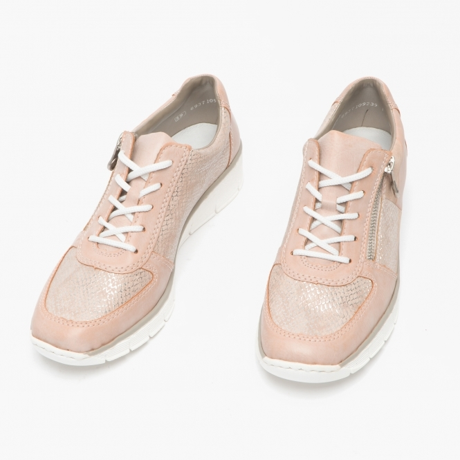Ladies Rieker 53714 Rosa Pink or Blue Casual Lace Up Shoes