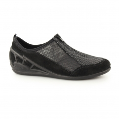 Rieker 59562-00 Ladies Casual Zip Shoes Black