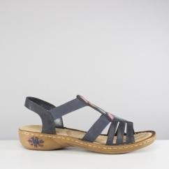 a5d4e5029bb3 Rieker 60171-14 Ladies Womens Summer Slingback Sandals Blue