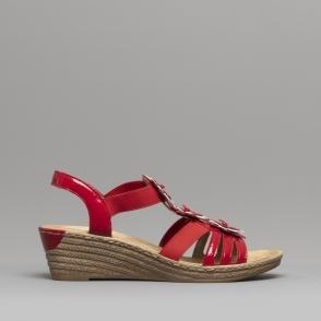 0c11730540a Rieker 62461-43 Ladies Wedge Slingback Sandals Grey