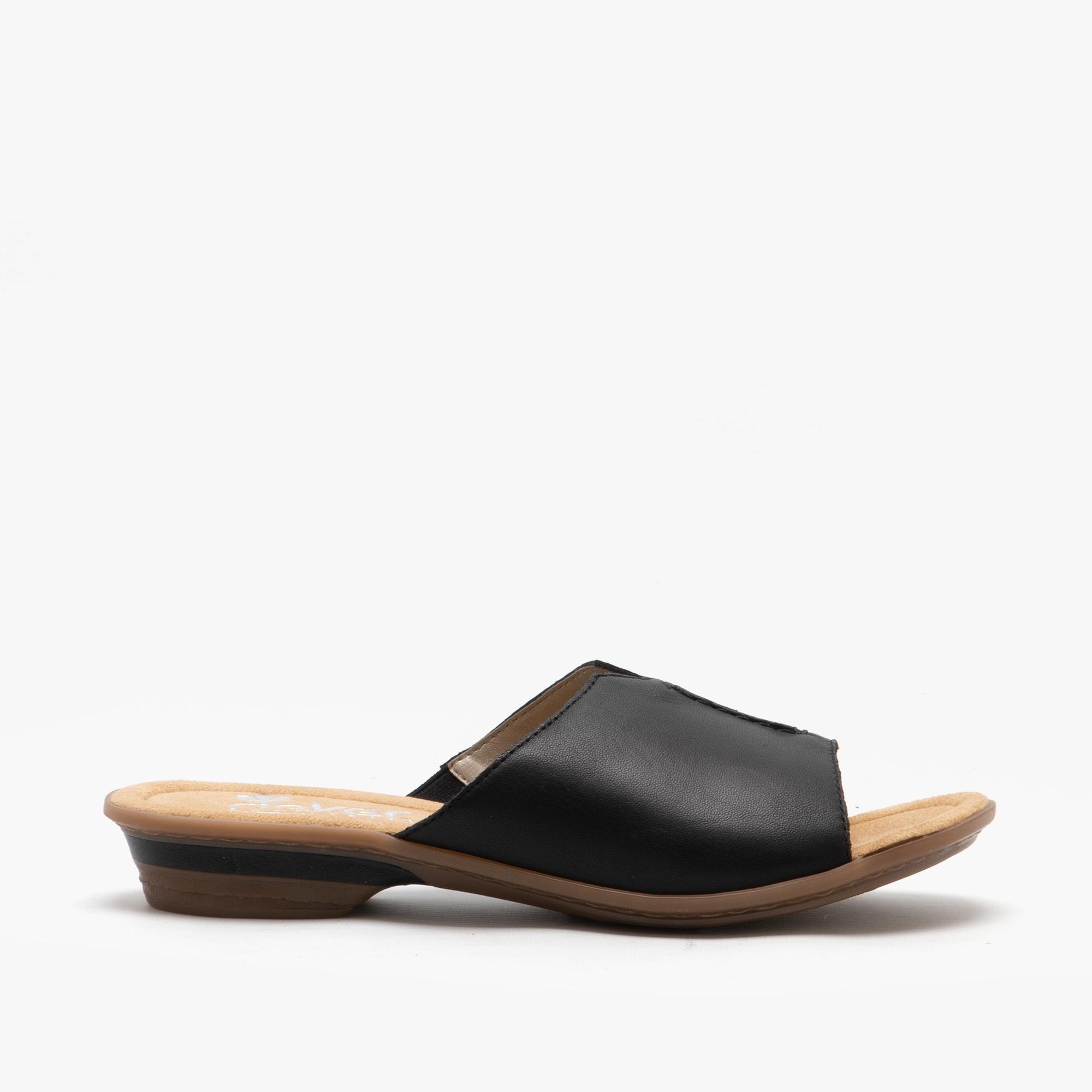 Rieker 63459-00 Ladies Leather Slip-On